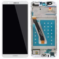 Levně LCD displej + dotyková plocha pro Huawei P Smart s rámem - bílý