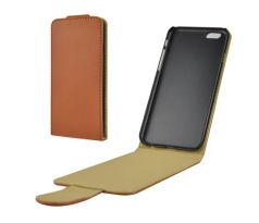 Faux Leather Flip Case iPhone 6 / 6S (Brown)