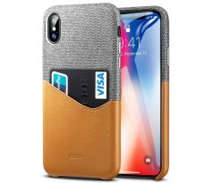 ESR Metro case CREDIT CARD iPhone X / XS hnědé