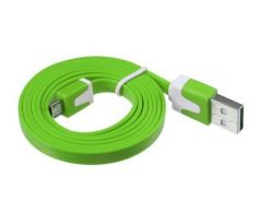 Micro USB kabel Samsung, HTC, Sony, Nokia, LG color green