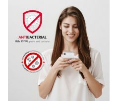 Forcell AntiBacterial kryt pro iPhone XS Max - transparentní