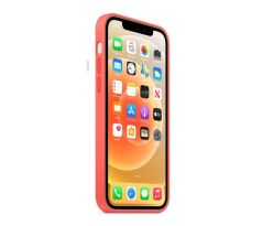 iPhone 12 mini Silicone Case - ružový (lososový)